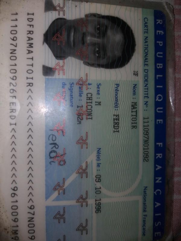 perdu carte d identité Papiers d'identité perdus   Perdu carte d'identité dans l'avion