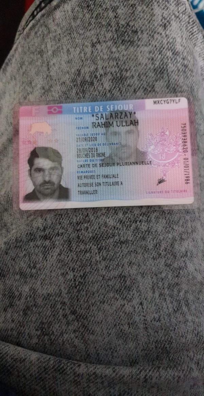 carte de sejour perdu Portefeuille perdu   Portefeuille titré de séjour Banks card bus